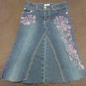 Cute Jean Skirt Girls Size 8